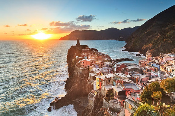 Facing the Ligurian Sea The Cinque Terre by Luigi Vaccarella