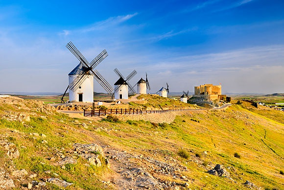 The Windmills of Don Quixote Francesco Carovillano in Castilla la Mancha
